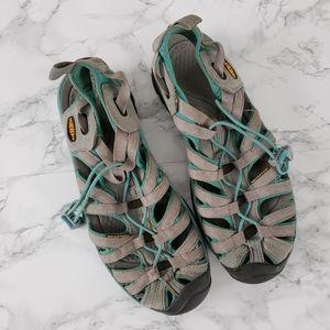 Keen Whisper Sandals Gray Blue Waterproof Size 8